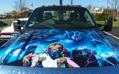 Fastlane Towing Tow Truck Wrap Aliens Theme