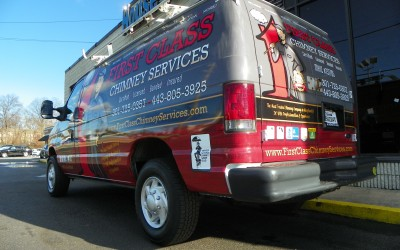 First Class Chimney Svcs. Ford Van Wrap