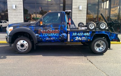Fastlane Towing Tow Truck Wrap Skulls Theme
