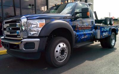 Fastlane Towing Tow Truck Wrap Skulls Theme