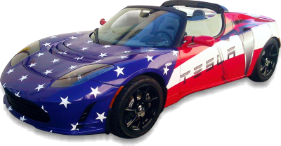Tesla Roadster wrap